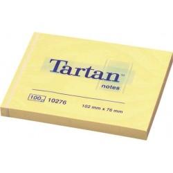 Tartan Notisar 76x102 gul 12-pack