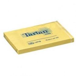 Tartan Notisar 76x127 gul 12-pack