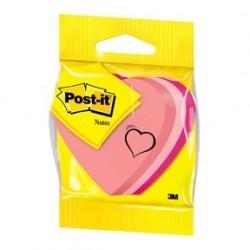 Post-It Notisar 70x70 kub hjärta neon 225 blad 3-pack