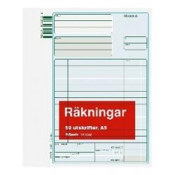 Blankett räkning A5 50 10-pack