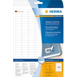Herma etikett avtagbar 25,4x10 (4725)