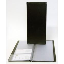 Visitkortspärm 96 fickor svart