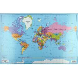 Skrivunderlägg Världskarta 59x39