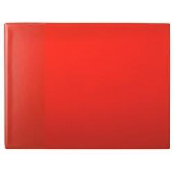 Skrivunderlägg 40x52 PP ficka röd