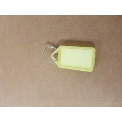 Nyckelbricka No12 transpararent gul 50-pack