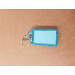 Nyckelbricka No.12 transparent blå 50-pack