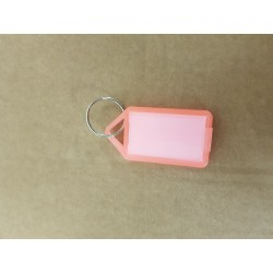 Nyckelbricka No.12 transparent orange 50-pack