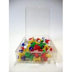 Kartnål Push Pin sorterade färger (100) 12-pack