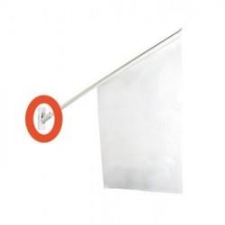 Flaggfäste för entréflagga vit