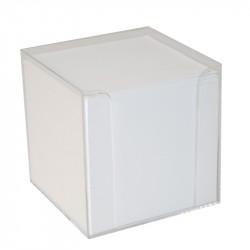 Block kub/Hållare vit