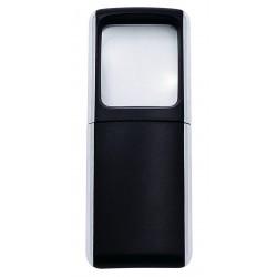 Förstoringsglas med LED-belysning svart