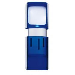 Förstoringsglas med LED-belysning blå