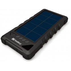Powerbank Outdoor Solar 16000 mAh, svart