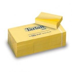 Tartan Notisar 51x38mm gul (12) 2-pack