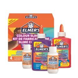 Slime med färger i olika färgkits Elmers 4-pack