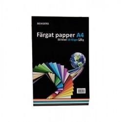 Färgat papper A4 120g sorterat 50/förpackning