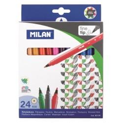 Milan Fiberspetspenna 24/etui 6-pack