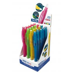 Stiftpenna Milan Look P1 0,5 mm 20-pack i display
