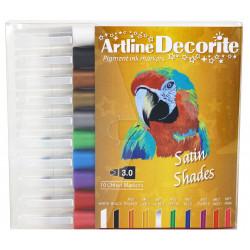 Fiberpennan Artline Decorite Rak Satin 10/fp
