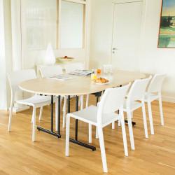 Vit stapelbar stol Soller
