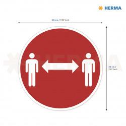 Herma etikett Håll avstånd 20 i diameter (5)