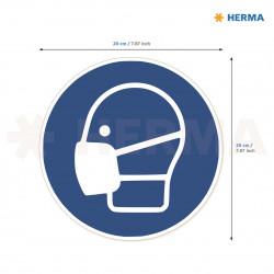Herma etikett Använd munskydd 20 i diameter (5)